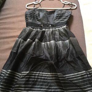 BCBG Maxazria petite black cocktail dress